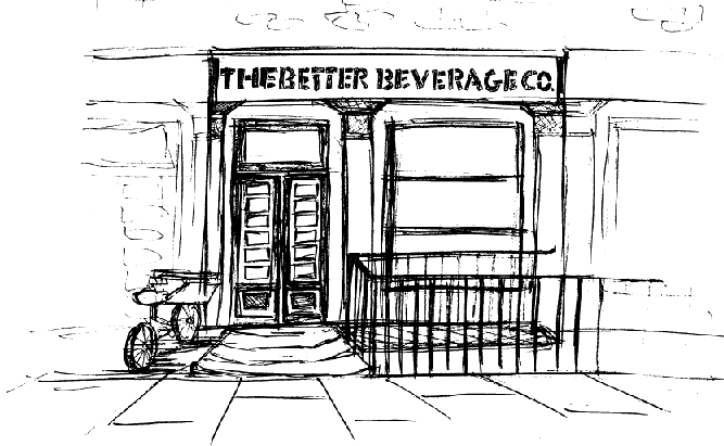 The shop front of The Better Beverage Company
